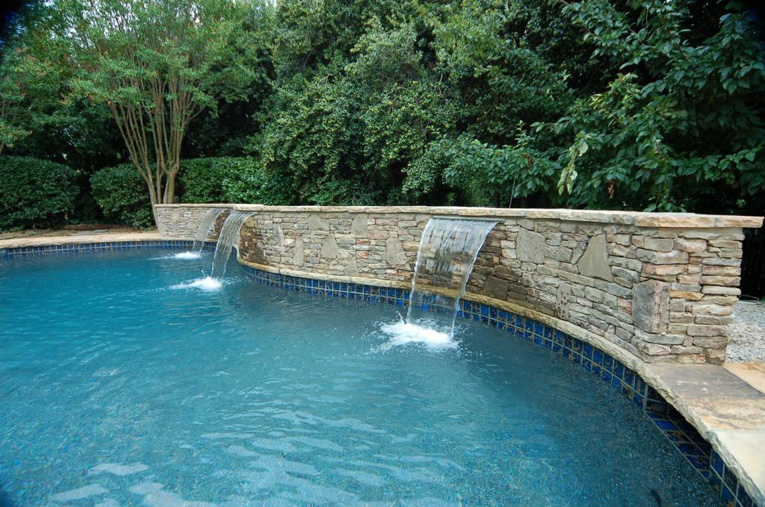 Pool Waterfall Construction Waterfall Design Atlanta Fountain Design Artisan Pools Artisan